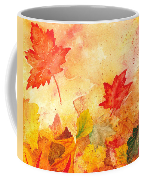 Fall Coffee Mug featuring the painting Autumn Dance by Irina Sztukowski