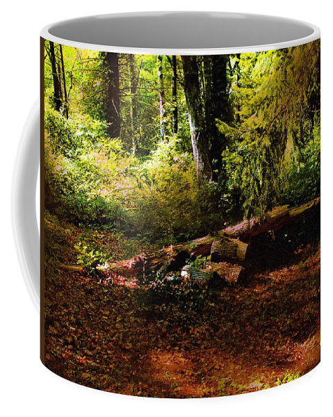 Landscape Coffee Mug featuring the painting Autumn Dawn - East Haddam by RC DeWinter