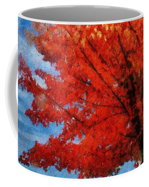 Autumn Coffee Mug featuring the painting Autumn Fire by Jeffrey Kolker