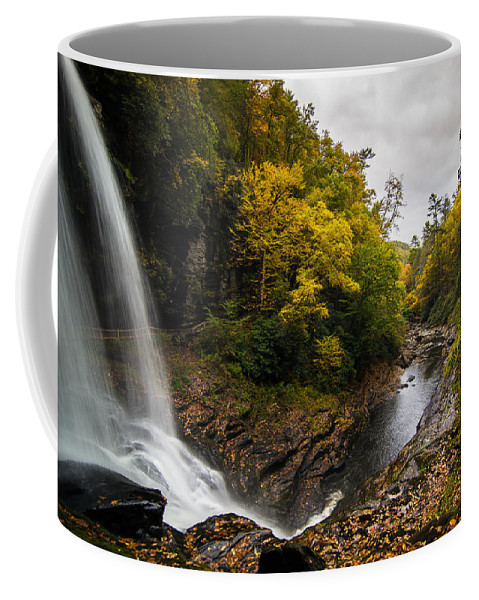 Waterfall Coffee Mug featuring the photograph Autumn Flow by Serge Skiba
