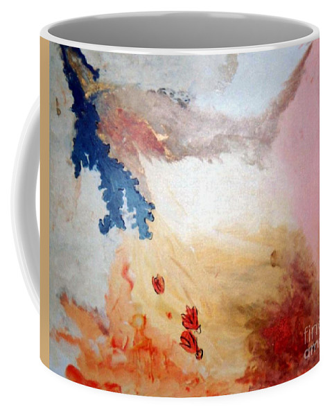 Abstract Coffee Mug featuring the painting Autumn by Graciela Castro