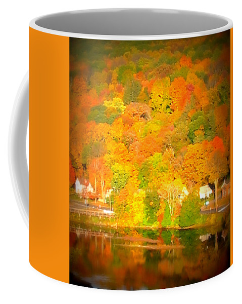 Fall Coffee Mug featuring the photograph Autumn In Collinsville Connecticut by Rebecca Malo