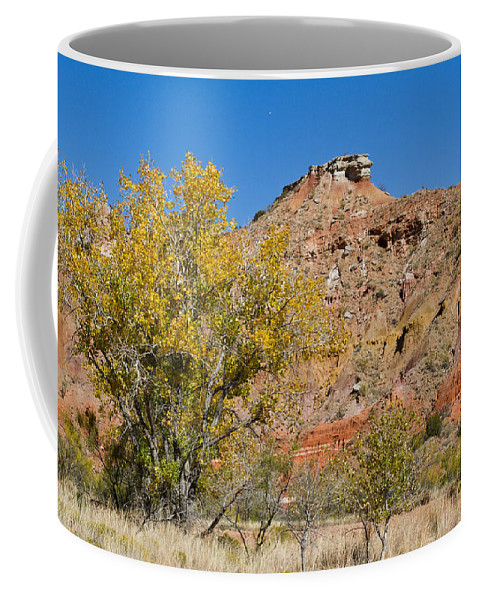 Texas Coffee Mug featuring the photograph Autumn In Palo Duro Canyon 110213.119 by Ashley M Conger