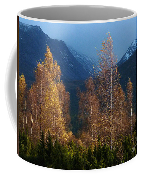 Autumn Coffee Mug featuring the photograph Autumn Into Winter - Cairngorm Mountains by Phil Banks