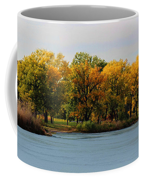 River Coffee Mug featuring the photograph Autumn Jewels by Sylvia Thornton