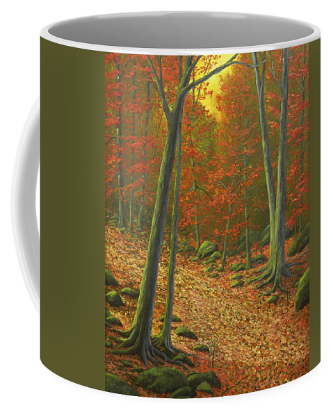 Autumn Leaf Litter Coffee Mug featuring the painting Autumn Leaf Litter by Frank Wilson