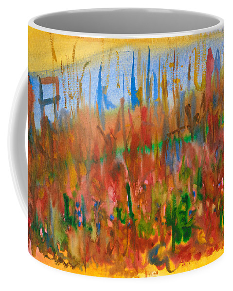 Fall Coffee Mug featuring the painting Autumn Leaves by Bjorn Sjogren