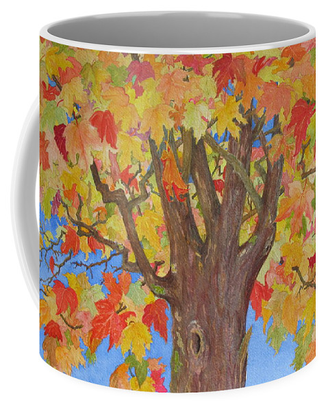 Tree Coffee Mug featuring the painting Autumn Leaves by Mary Ellen Mueller Legault