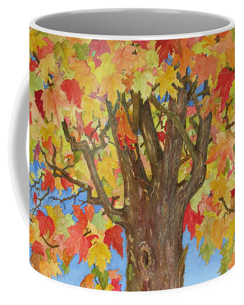 Leaves Coffee Mug featuring the painting Autumn Leaves 1 by Mary Ellen Mueller Legault