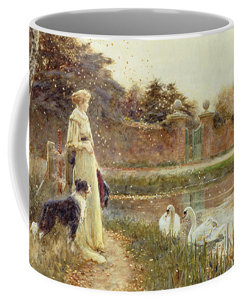 Autumnal Coffee Mug featuring the painting Autumn Leaves by Thomas James Lloyd