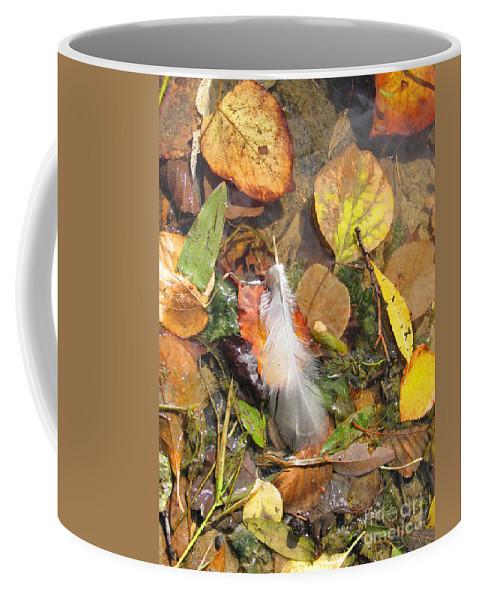 Autumn Coffee Mug featuring the photograph Autumn Leavings by Ann Horn
