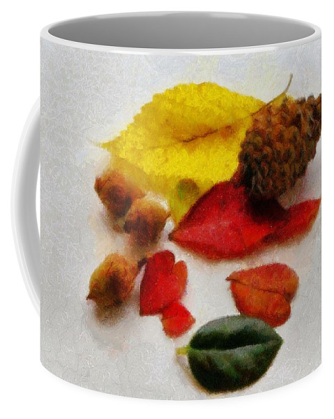 Acorn Coffee Mug featuring the painting Autumn Medley by Jeffrey Kolker
