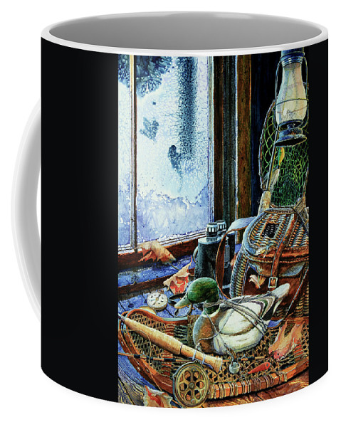 Autumn Memories Coffee Mug featuring the painting Autumn Memories by Hanne Lore Koehler