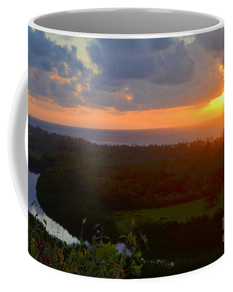 Autumn Coffee Mug featuring the photograph Autumn Morning Over Wailua by Mary Deal