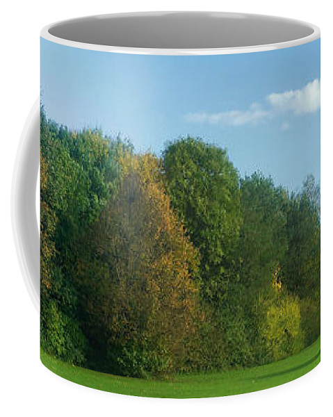 Nature Coffee Mug featuring the photograph Autumn Panorama 3 by Rudi Prott