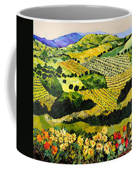 Landscape Coffee Mug featuring the painting Autumn Remembered by Allan P Friedlander