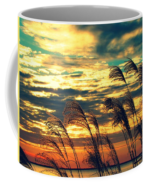Beauty Coffee Mug featuring the photograph Autumn Skies Over The Ocean by Constance Carlsen