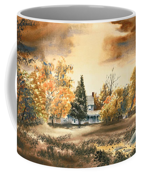 Autumn Sky No W103 Coffee Mug featuring the painting Autumn Sky No W103 by Kip DeVore