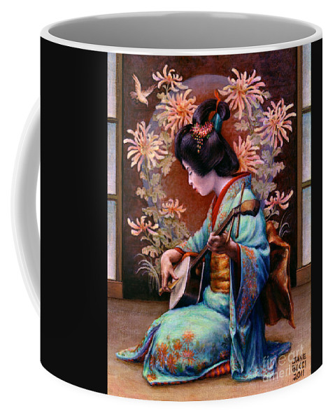 Woman Coffee Mug featuring the painting Autumn Song by Jane Bucci