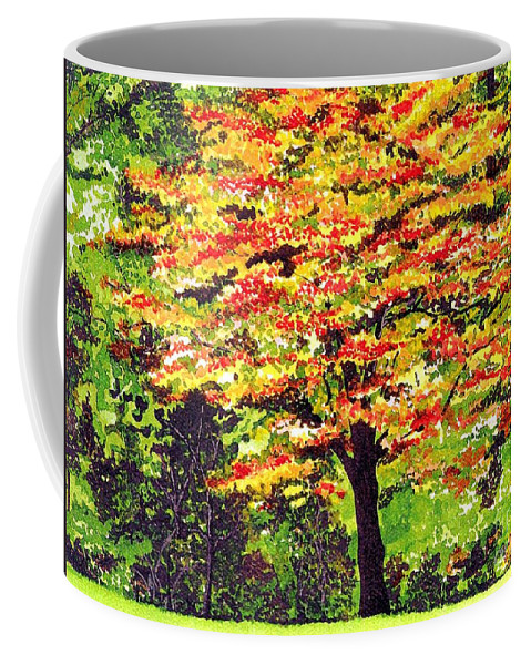 Fine Art Coffee Mug featuring the painting Autumn Splendor by Patricia Griffin Brett