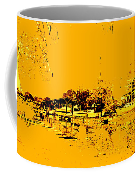 Sacramento River Delta Coffee Mug featuring the digital art Autumn Sunset On The Delta by Joseph Coulombe