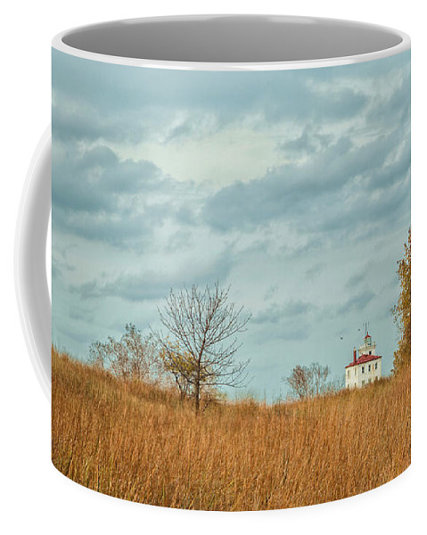 Autumn Twilight Coffee Mug featuring the photograph Autumn Twilight Pano by Dale Kincaid