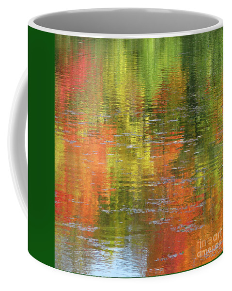 Autumn Coffee Mug featuring the photograph Autumn Water Colors by Ann Horn