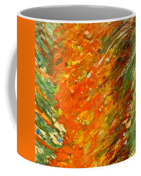 Abstract Painting Coffee Mug featuring the painting Autumn Wind by Joan Reese