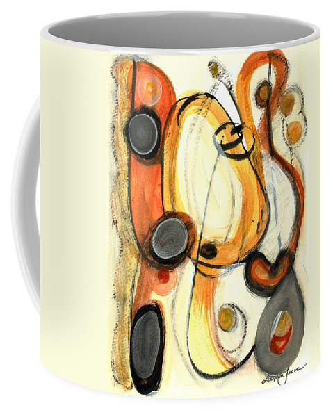Abstract Art Coffee Mug featuring the painting Autumn Winds by Stephen Lucas