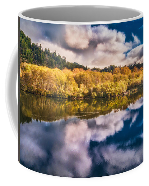 Klamath River Coffee Mug featuring the photograph Autumnal Reflections by Greg Nyquist