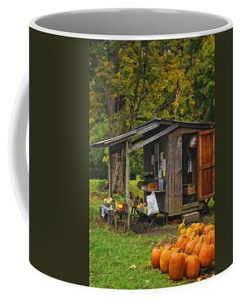 Autumn's Bounty Coffee Mug featuring the photograph Autumn's Bounty by Priscilla Burgers