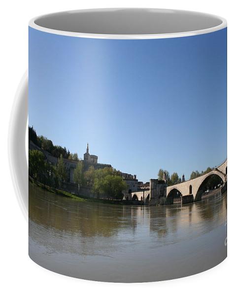 Bridge Coffee Mug featuring the photograph Avignon - Pont Saint Benezet by Christiane Schulze Art And Photography