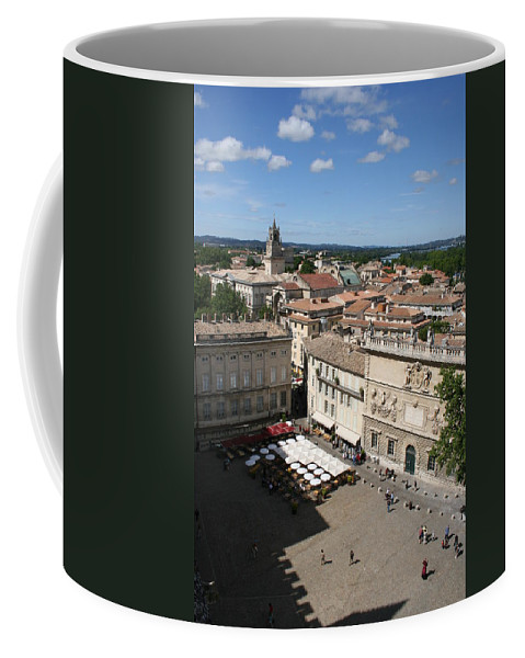 Palace Coffee Mug featuring the photograph Avigon Square by Christiane Schulze Art And Photography