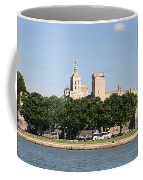 City Coffee Mug featuring the photograph Avigon View From River Rhone by Christiane Schulze Art And Photography