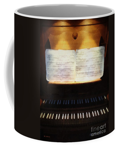 Organ Coffee Mug featuring the painting Awaiting Bach by RC DeWinter