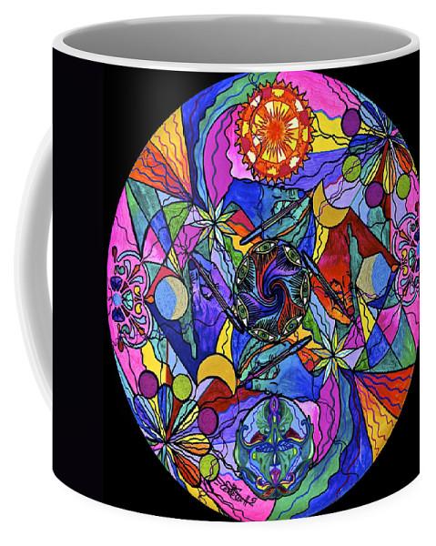 Coffee Mug featuring the painting Awakened Poet by Teal Eye Print Store