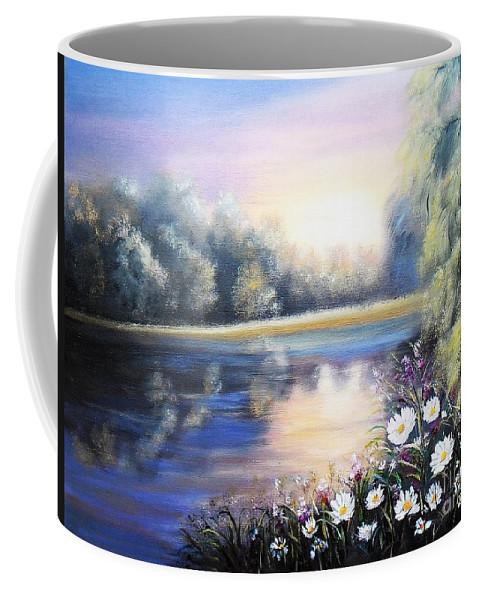 Landscape Coffee Mug featuring the painting Awakening by Vesna Martinjak