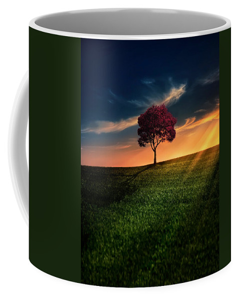 Agriculture Coffee Mug featuring the photograph Awesome Solitude by Bess Hamiti