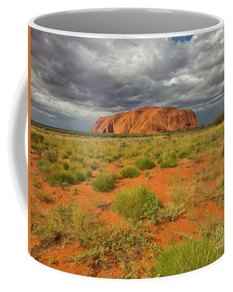 00477465 Coffee Mug featuring the photograph Ayers Rock Uluru-kata Tjuta Natl Park by Yva Momatiuk and John Eastcott