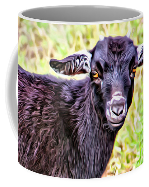 Baby Goat Coffee Mug featuring the photograph Baby Billy by Alice Gipson