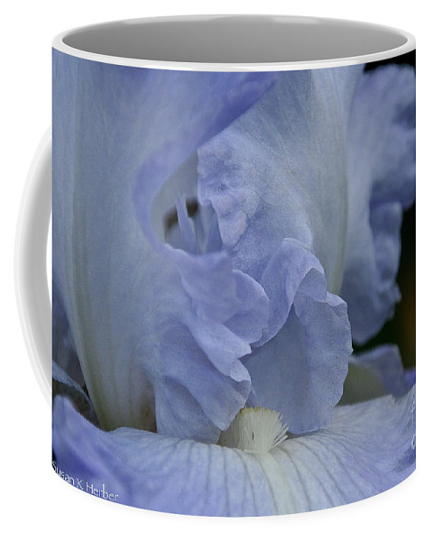 Flower Coffee Mug featuring the photograph Baby Blue by Susan Herber