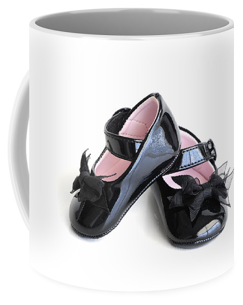 Shoe Coffee Mug featuring the photograph Baby Shoes by Charles Beeler