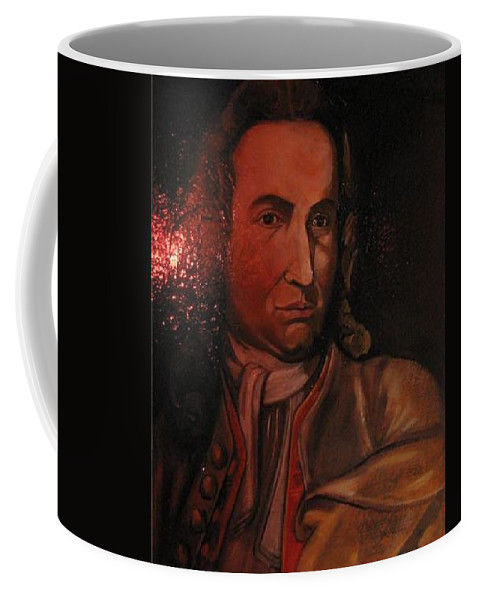 Coffee Mug featuring the painting Bach Portrait After Heavy Varnish by Jude Darrien