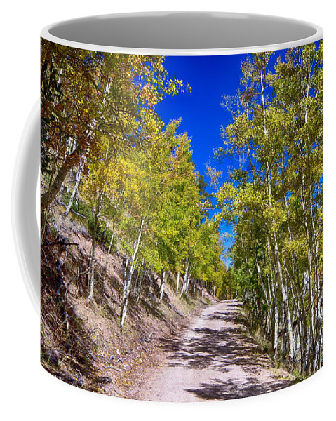 Autumn Coffee Mug featuring the photograph Back Country Road Take Me Home Colorado by James BO Insogna