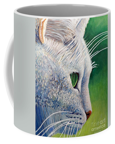 Cat Coffee Mug featuring the painting Back In The Day by Brian Commerford