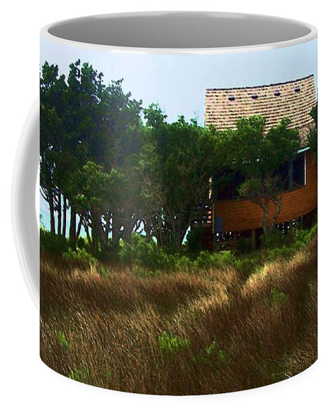 Beach Coffee Mug featuring the photograph Back To The Island by Debbi Granruth
