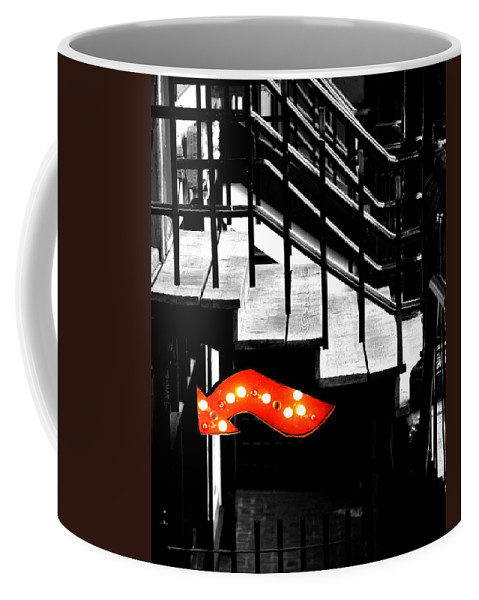 Black And White Photography Coffee Mug featuring the photograph Backdoor Slips by The Artist Project