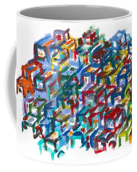 Scapyard Coffee Mug featuring the painting Backyards by Bjorn Sjogren