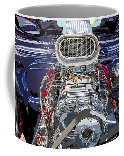 V8 Coffee Mug featuring the photograph Bad Boy Blower Motor by Rich Franco