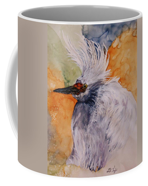 Coffee Mug featuring the painting Bad Hair Day by Lil Taylor